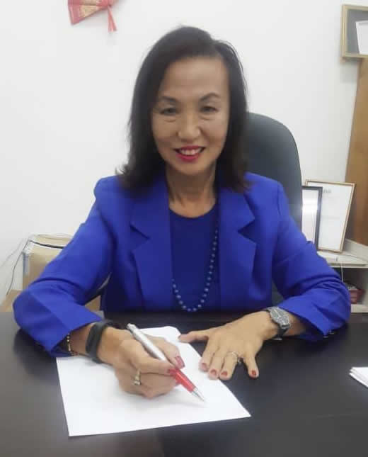 Datuk Nancy Ho, JP, Inner Wheel District 331 Chairman 2018-2019