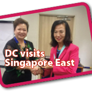District Chairman Nancy Ho's visit to IWC Singapore East.