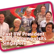 Past International Inner Wheel President, Carole Young visits Singapore