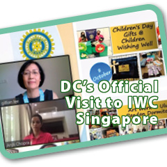 22 Nov 2020. Inner Wheel District 331. Official visit of DC Datin Gillian Lee to IWC Singapore