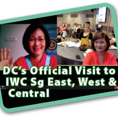 Dec 2020. Inner Wheel District 331. Official visit of DC Datin Gillian Lee to IWC Singapore East, West and Central